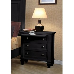 Top Reviews Ames 3 Drawer Nightstand by Grovelane Teen