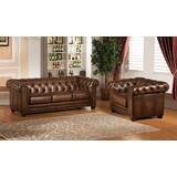 Saffold 2 Piece Leather Living Room Set by Canora Grey