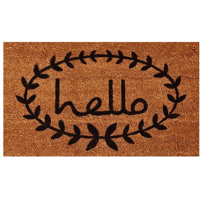 Laurel Foundry Modern Farmhouse Sulema Hello Doormat by Laurel Foundry Modern Farmhouse