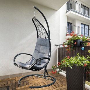 Maciejewski Hanging Basket Swing Chair with Stand by Bungalow Rose