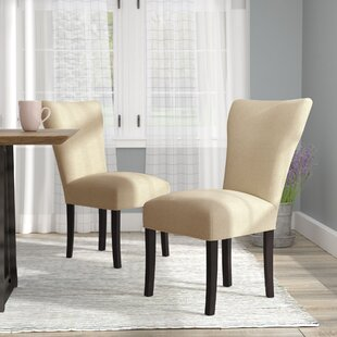 Lorie Seating Double Dow Upholstered Parsons Chair (Set of 2)