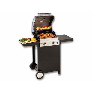 42cm 2 Burner Liquid Propane Barbecue Grill By Symple Stuff