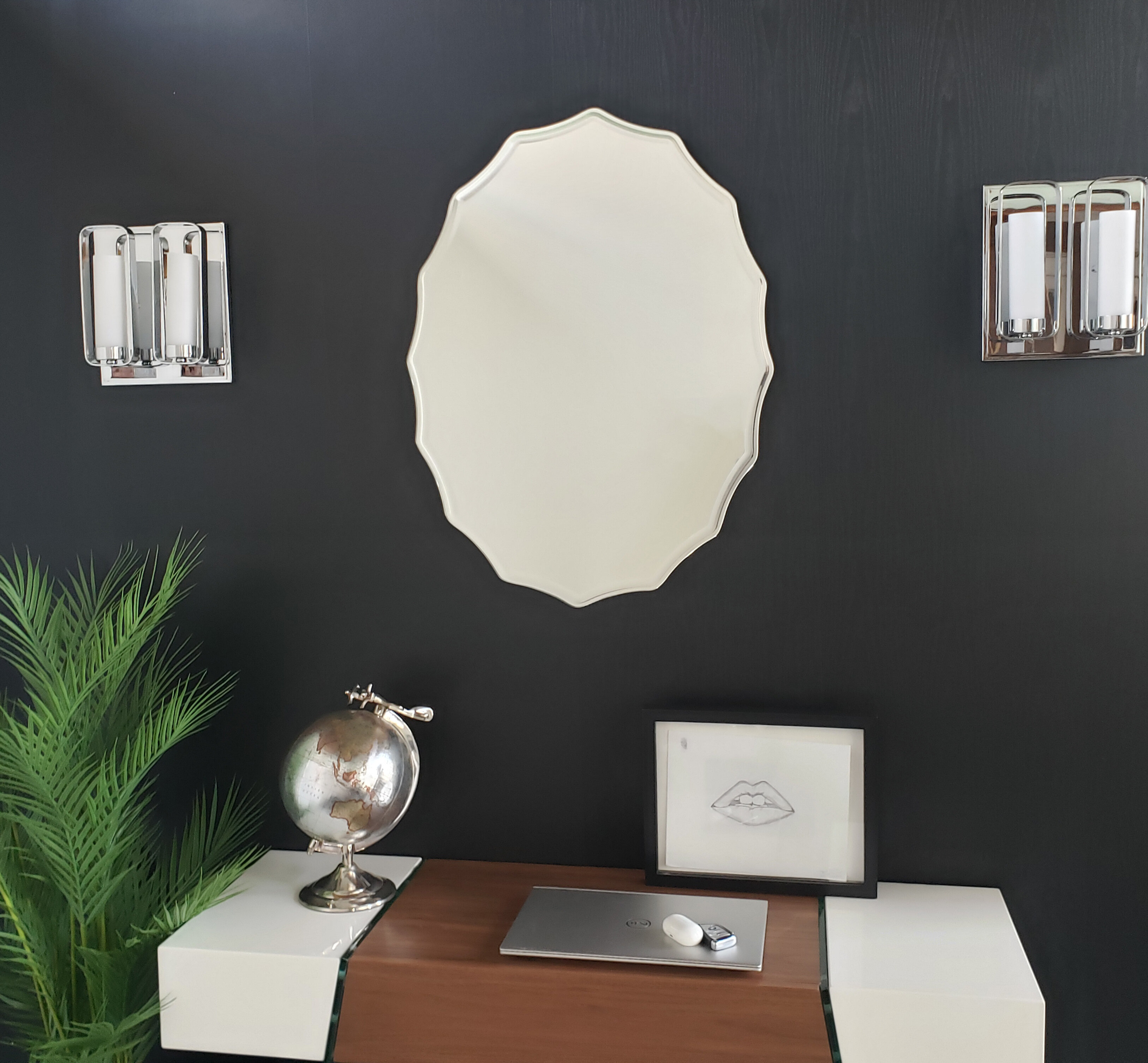 Wade Logan Estefania Modern Frameless Bathroom Vanity Mirror Wayfair