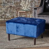 Ranck 26.25 Tufted Rectangle Standard Ottoman by Wrought Studio™