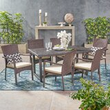 Gilmartin Outdoor 7 Piece Dining Set with Cushions