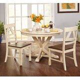 Fred 3 Piece Solid Wood Dining Set by August Grove®
