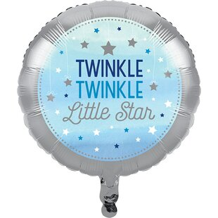 Twinkle Twinkle Little Star Disposable Foil Balloon by NA Amazing