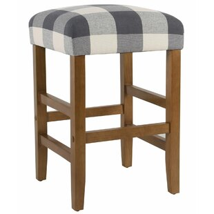 Roeder Square Wooden 24.5 Bar Stool by Millwood Pines