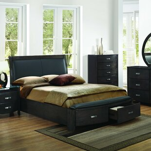 Latitude Run Herring Upholstered Storage Platform Bed
