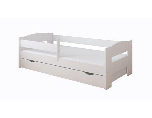 Funktionsbett Elena mit Matratze und Schublade   Schlafzimmer > Betten > Funktionsbetten   Weiß   Holz - Teilmassiv - Mdf   Möbel Concept