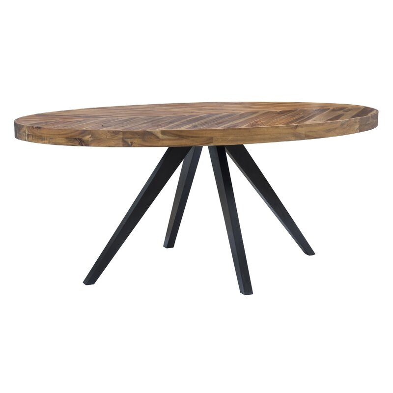 Union Rustic Serita Oval Dining Table Reviews Wayfair - Oval dinner table