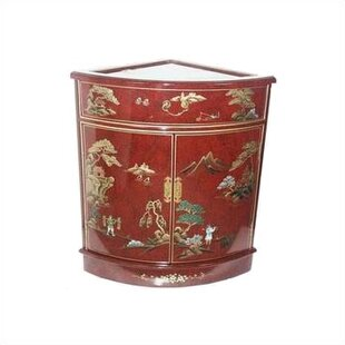 Camille Imperial Heavens Corner Accent Cabinet by World Menagerie