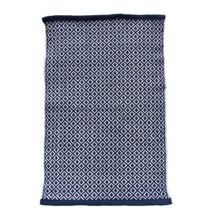 Buy Cheap Handwoven Dark Blue Rug