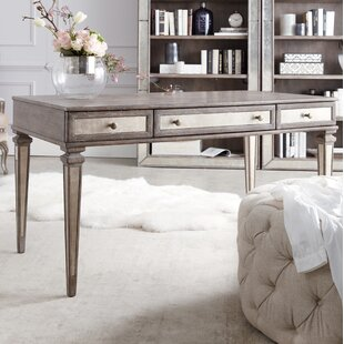 Rustic Glam Solid Wood Writing Desk by Hooker Furniture