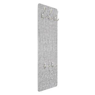 Concrete Ciré Wallpaper Wall Mounted Coat Rack By Symple Stuff