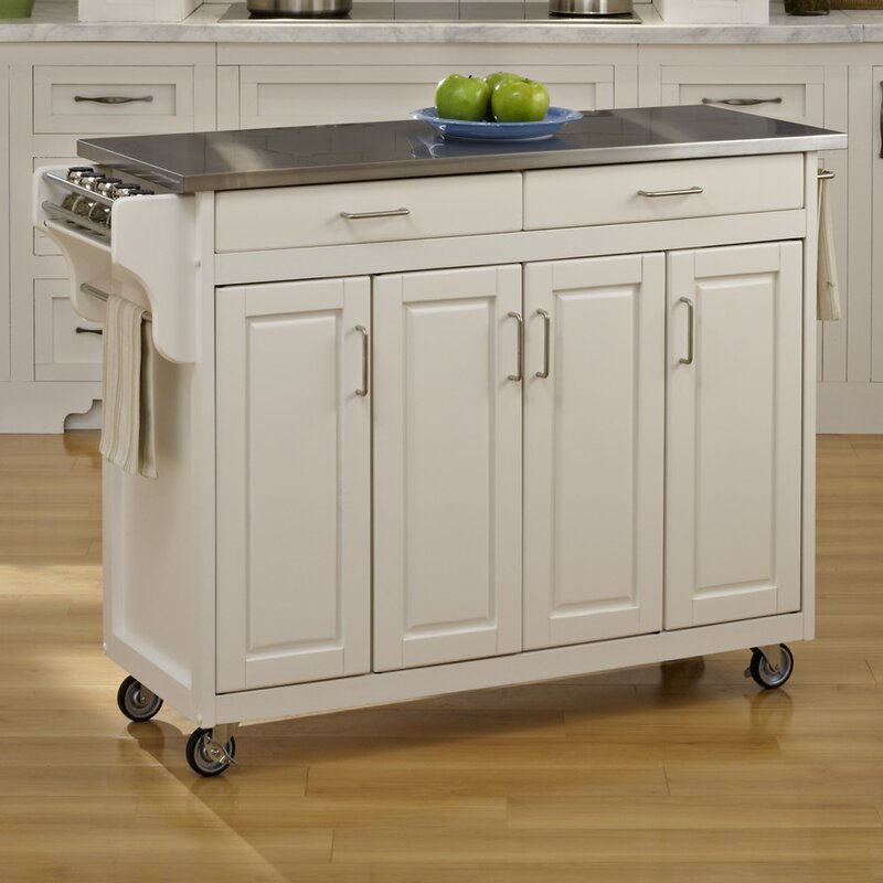 August Grove Regiene Kitchen Island with Stainless Steel Top ... on stainless kitchen carts on wheels, stainless steel kitchen islands on wheels, stainless steel 3 shelf cart, stainless steel modular outdoor kitchen, heavy duty stainless steel cart, stainless steel kitchen shelf walmart, stainless steel kitchen island wood, stainless steal kitchen cart island, stainless steel kitchen utility cart with top, stainless steel utility cart 3 shelves, stainless steel kitchen cart with black top, stainless kitchen island with casters, small mobile food cart, stainless steel top kitchen cart bamboo, ikea raskog cart, stainless steel kitchen stools, stainless steel kitchen island ikea, stainless steel islands for kitchens, stainless steel kitchen chairs, stainless steel kitchen wall shelves,