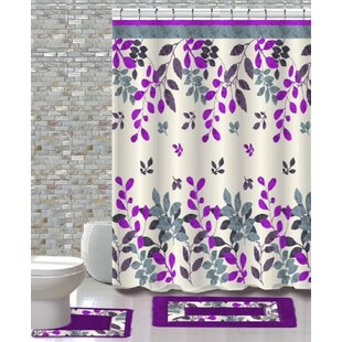 15 Piece Shower Curtain Set