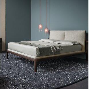 Pianca USA Fushimi Upholstered Platform Bed with Headboard Cushions and Mattress Base