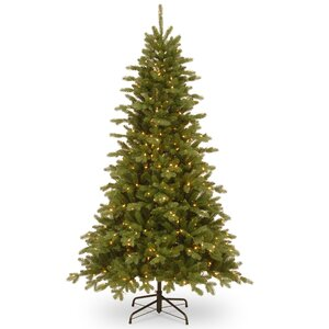 7.5' Green Fir Artificial Christmas Tree with 550 Clear Lights Includes Stand