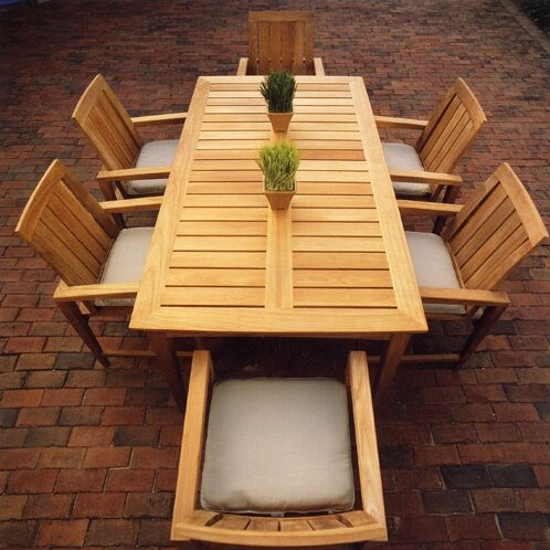 Kingsley Bate Amalfi Teak 7 Piece Dining Set & Reviews | Perigold