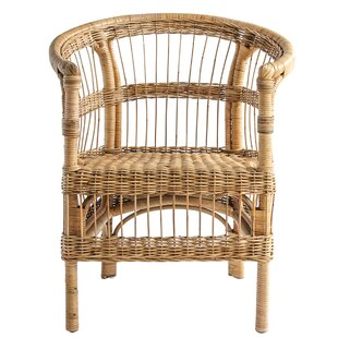 Charli Handwoven Rattan Barrel Chair by Bay Isle Home