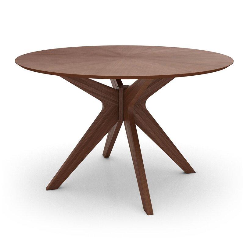 Wrought Studio  Mattison Dining Table Base Color: Walnut, Top Color: Walnut