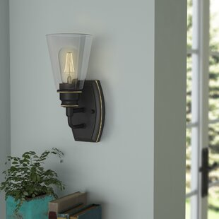 Read Reviews Clayton 1-Light Wall Sconce By Laurel Foundry Modern Farmhouse