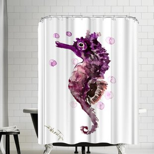 Suren Nersisyan Seahorse Single Shower Curtain