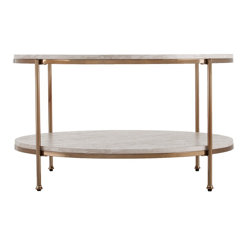 Faux Stone Coffee Table: Mercer41 Stamper Faux Stone Coffee Table & Reviews
