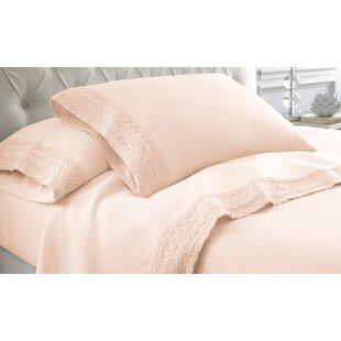 Lark Manor Decarie Crochet Lace Sheet Set