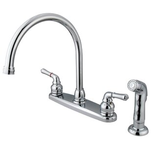 Kingston Brass Magellan Double Handle Kitchen Faucet with Side Spray