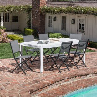 Latitude Run Walden 7 Piece Outdoor Patio Dining Set