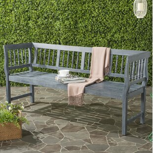 Millard Wood Bench by Rosecliff Heights