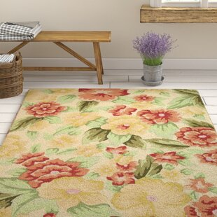 Cinderford Hand-Hooked Multi-Coloured Area Rug by Brambly Cottage