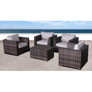 Pierson Resort 5 Piece Conversation Set with Cushions