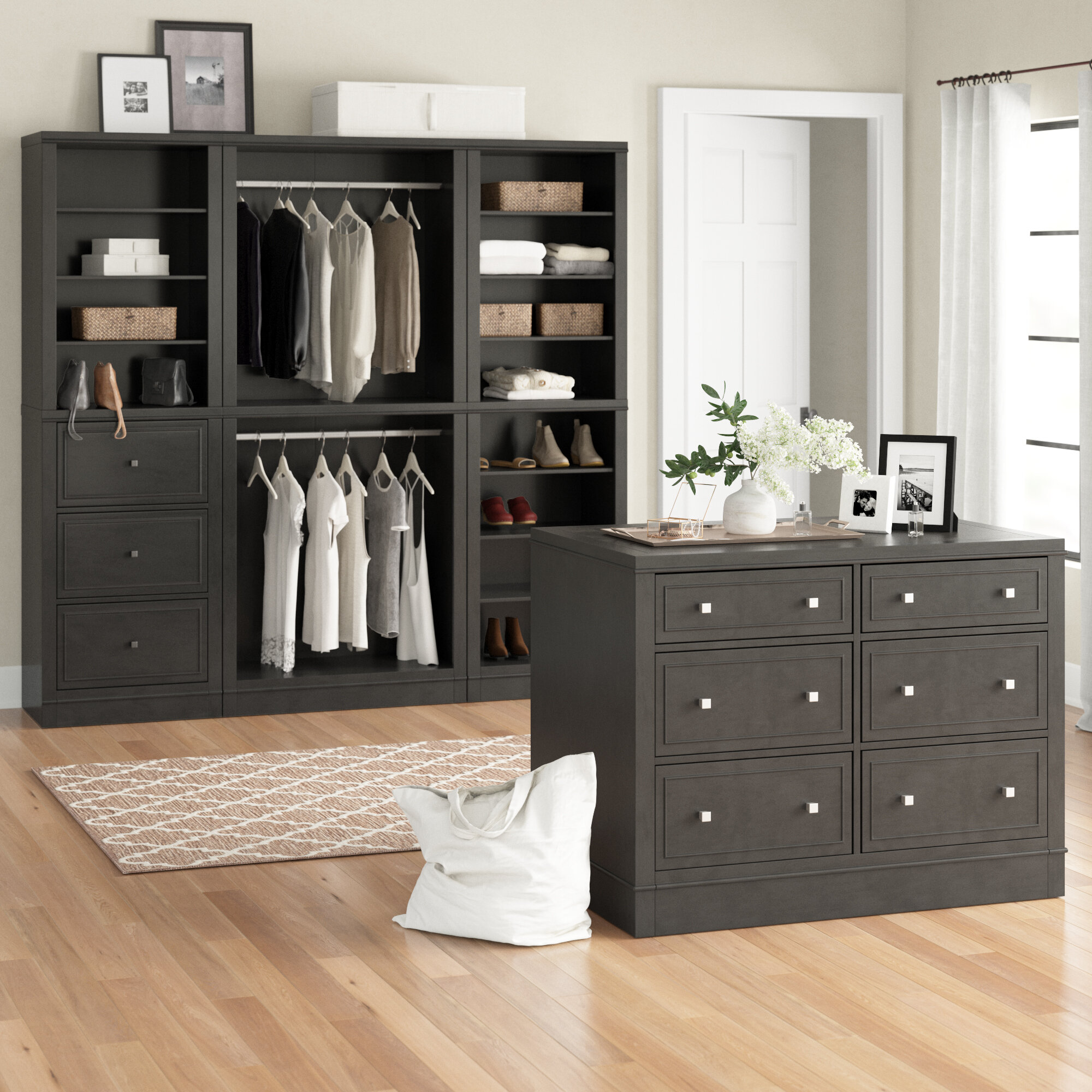 "Romsey 11"" W 11 Piece Closet Storage Units"