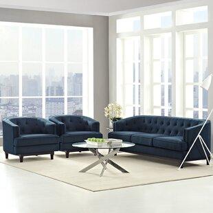 Ivy Bronx Thomaston 3 Piece Living Room Set