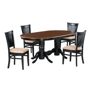 Brooke 5 Piece Extendable Solid Wood Dining Set