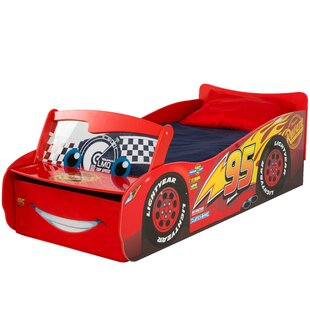 Disney Cars Lightening McQueen Toddler Car Bed With Drawers By Cars