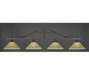 Fleur De Lis Living Reba Traditional 4-Light Billiard Pendant