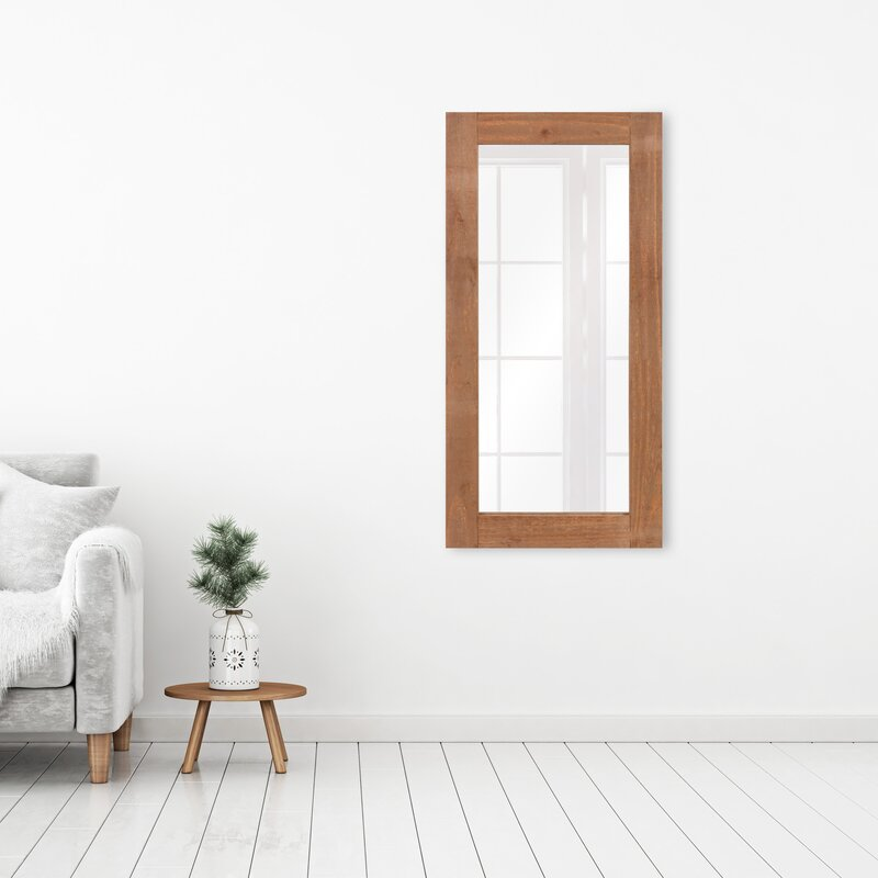 Union Rustic Nicolas Modern Shaker Distressed Wood Full Length Mirror Wayfair
