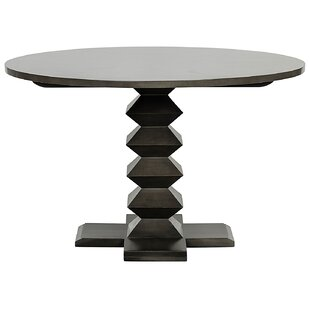 Noir Zig-Zag Solid Wood Dining Table