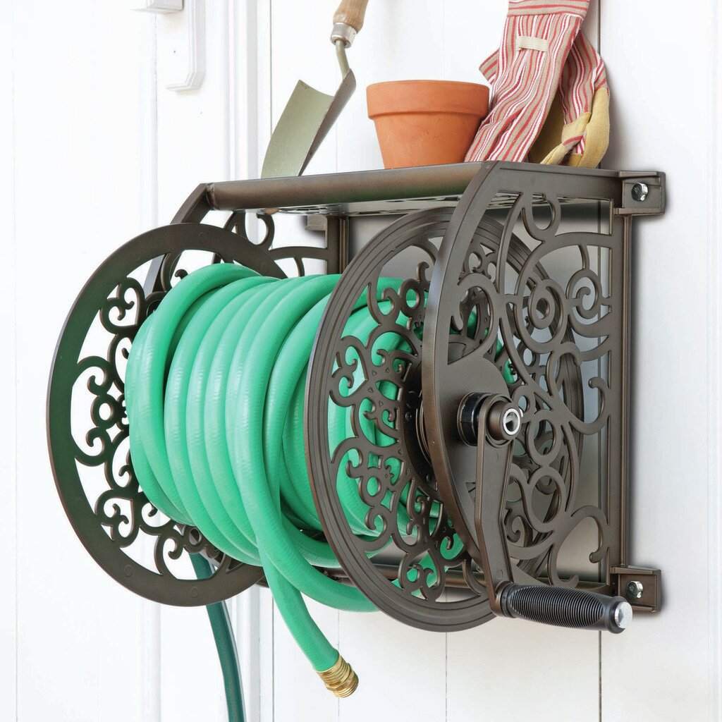 Great Liberty Products Cast Aluminum Wall Mount Hose Reel | Wayfair