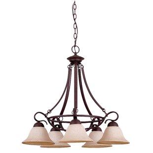 Devries 5-Light Shaded Chandelier by Winston Porter
