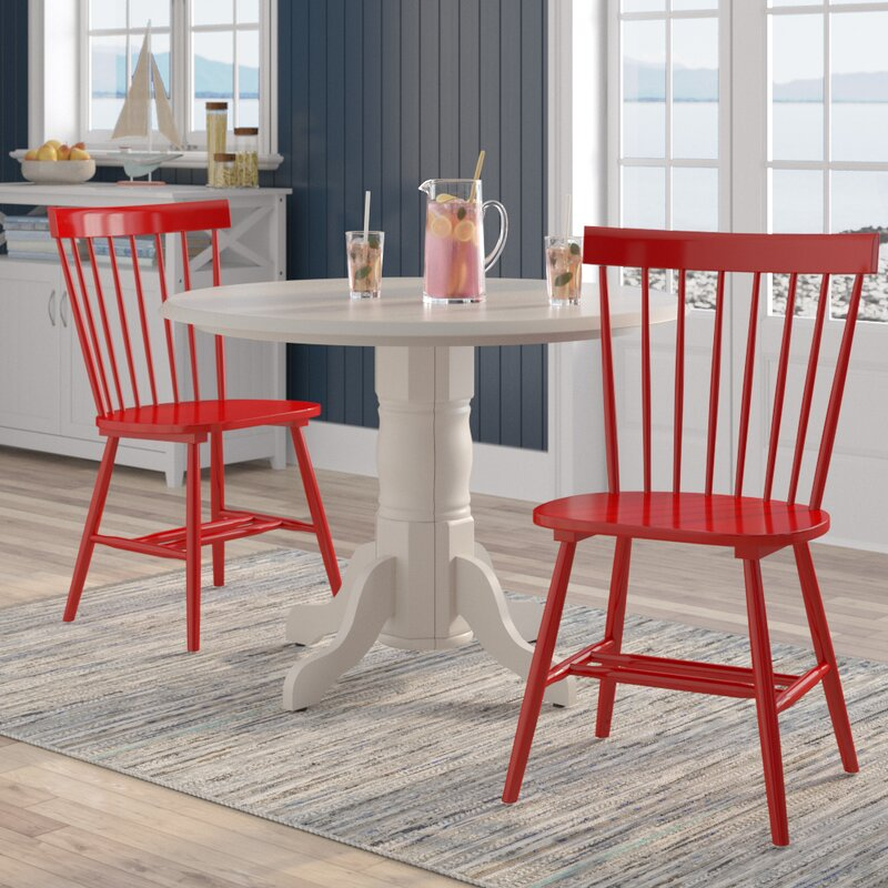 Royal Palm Beach Solid Wood Dining Chair (Set of 2)