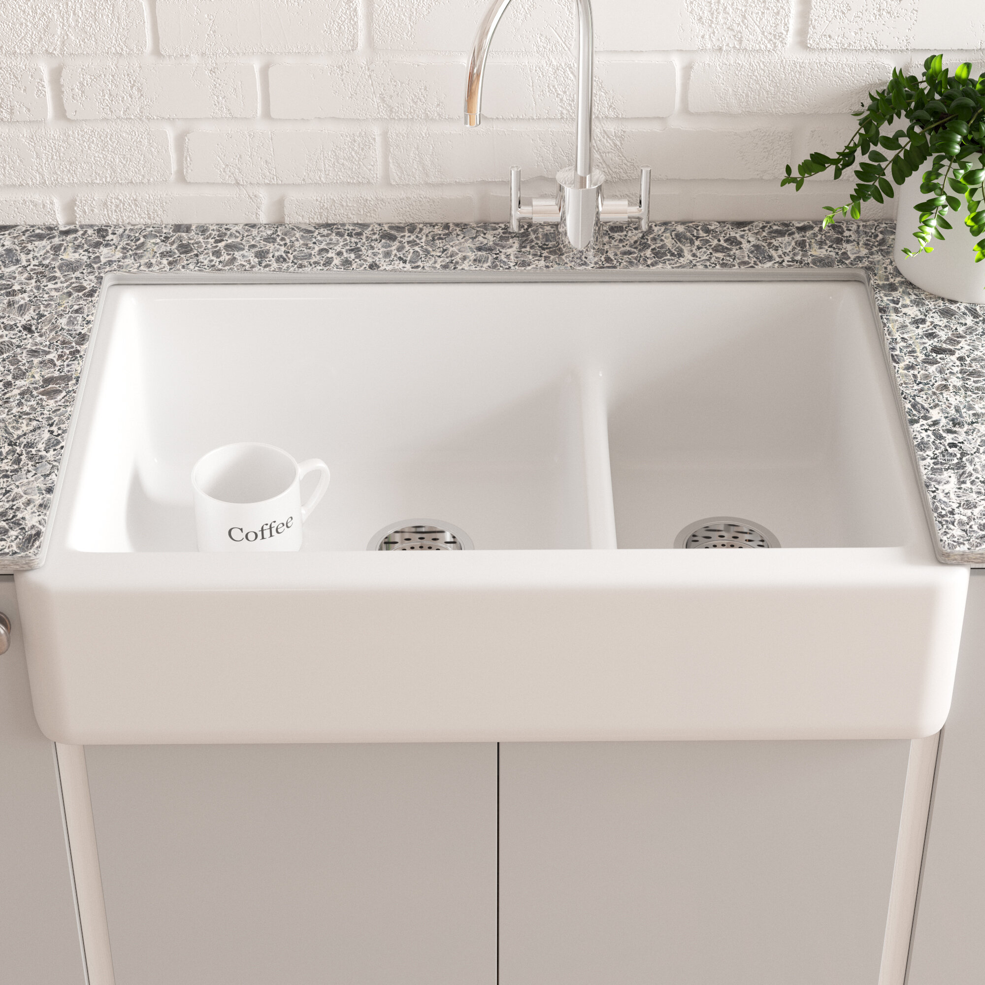 Picture of: Cast Iron Farmhouse Apron Kitchen Sinks You Ll Love In 2020 Wayfair