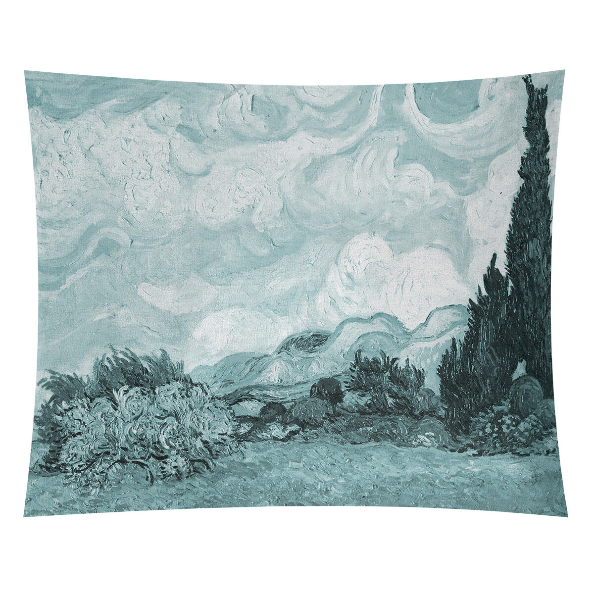 World Menagerie Wheatfield With Cypresses Tapestry Wayfair
