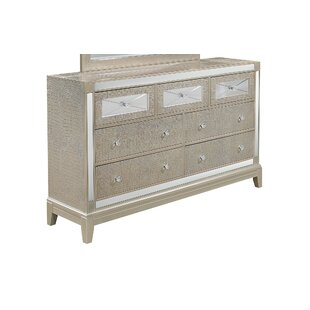 Rosdorf Park Aidy 7 Drawer Dresser with Mirror