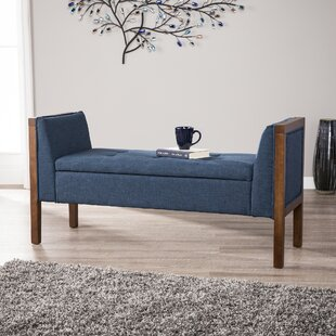 Charlton Home Kegler Storage Upholstered Bench