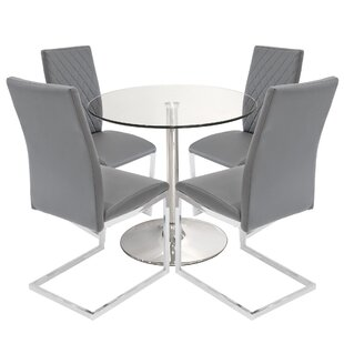 Issleib Dining Set With 4 Chairs By Metro Lane